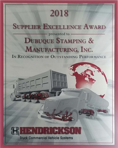 Hendrickson Supplier Award 2018
